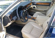 Immaculate & completely original tan leather interior of the 1988 Jaguar XJ Sovereign 3.6 litre