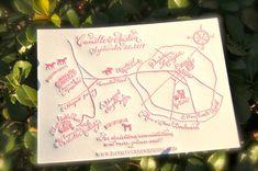 Custom Map Letterpress Wedding Map Map with door DancingPenandPress