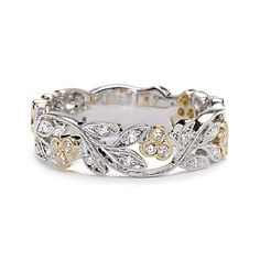 Two toned filigree ring