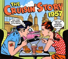 2011 The Cruisin' Story 1957 (2CD) [One Day Music DAY2CD135]  Mike Royer style #albumcover