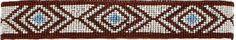 (MFW30592) Native American Influenced Beaded Headband