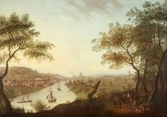 Distant View of Bristol from Ashton Court with Merchants' Dock and Clifton Wood, by Edmund Garvey, c. 1775.