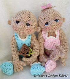Baby Doll Crochet Pattern by Teri Crews PDF format by WoolandWhims, $5.95
