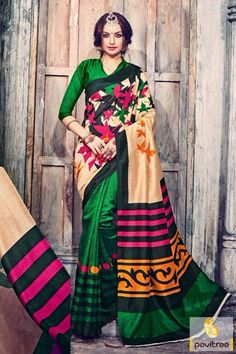 #Beige #Green Color #Bhagalpuri Saree 2016 At Low Cost #saree, #sari, #bhagalpurisilksareeonline, #silksarees, #designersaree, #sareewithblouse, #sarees, #sareeonline, #Indiansaree, #sareecollection, #buysareeonline, #fashionsaree, #latestsaree, #designercollection, #holifestival  More: http://www.pavitraa.in/store/silk-sarees/Any Query:	Call Us:+91-7698234040