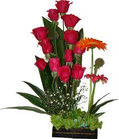 Flower Arrangements, Plants, Base, Hot Pink Roses, Floral Arrangements, Flowers, Trays, Wood, Recipes