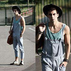 lumbersexual basics, tank + overalls // menswear style + inspiration