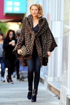 Golden girl: Blake Lively was sure to look the part as she filmed scenes for a new untitled Woody Allen project in NYC on October 7, 2015