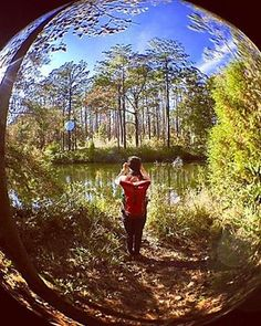 We are loving the places the Tuck Pack is going. Seen here with @fefiven in Falling Waters State Park, Florida. #timbuk2them, #t2tuckpack