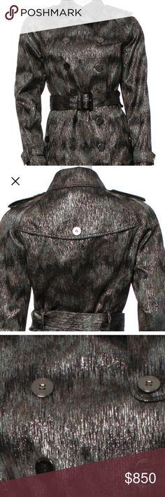 Selling this Burberry Metallic Trench Coat on Poshmark! My username is: _fashionista_97. #shopmycloset #poshmark #fashion #shopping #style #forsale #Burberry #Jackets & Blazers