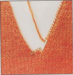 Knitting a V Neck easy instruction for how to knit a v neckline Crochet Stitches Patterns, Sweater Knitting Patterns, Knitting Stitches, Knitting Needles, Crochet Humor, Knit Or Crochet, Crochet Mandala, Crochet Afghans, Crochet Blankets