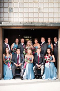 Nashville Wedding, Cranberry and Slate Grey