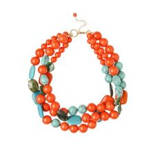 NECKLACES FOR THE BOLD   ... with bold colorful jewelry like this summer made necklace $ 44