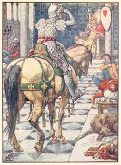 Walter Crane - Les chevaliers du Roi Arthur