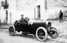 Targa Florio 1920 ,  Alfa Romeo 40/60 #14, Equipe Alfa corse , Driver Enzo Ferrari , co driver Michele Conti , second place overall.