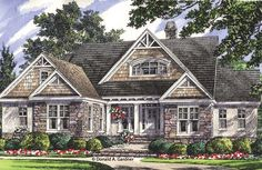 Really like this for a walkout plan, flip kitchen and dining, back kitchen into screen porch maybe. ePlans Craftsman House Plan – Walkout Basement with Craftsman Style – 2569 Square Feet and 4 Bedrooms from ePlans – House Plan Code Craftsman Exterior, Craftsman Style House Plans, Dream House Plans, House Floor Plans, My Dream Home, Craftsman Houses, Dream Homes, Craftsman Remodel, Basement House Plans