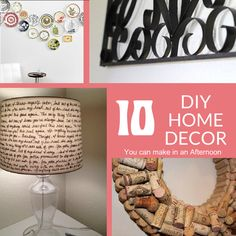 10 DIY Home Decor You Can Make in an Afternoon [ PropFunds.com ] #home #funds #saving