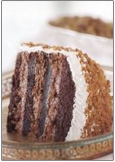 Frozen English Toffee Cake (ice cream cake using cake mix) - Recipelink.com
