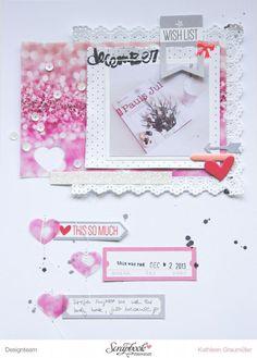 Scattered Confetti Scrap: Wishlist. [SBW Dezember Kit]// #scrapbookwerkstatt #dezemberkit #ellesstudio #sbw
