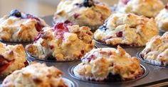 Mixed Berry White Chocolate Muffins 45 MINUTES TO PREPARE, SERVES 12  INGREDIENTS  1cupwhole milk 1/2cupoil 1 large egg