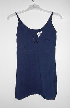0160159f00551 Jojo Maman Bebe Maternity Lace Camisole Nursing Top Navy XS BB 01 for sale  online