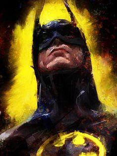 Batman - Who is this artist? Batman Wallpaper, Batman Artwork, Batman Painting, Batman Fan Art, Batman Drawing, Batman Poster, Catwoman, Batgirl, Bd Comics