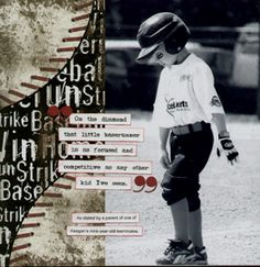 Baserunner - New Scrappin' Sports Grubby Sports papers - Scrapjazz.com