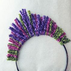DIY Tinsel Kokoshnik/Tiara Tutorial for New Year's Eve by 3LambsStudio, via Flickr. Would be great in all silver or gold as well!