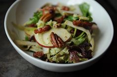 Not-Too-Virtuous Salad with Caramelized Apple Vinaigrette by wanderash, food52: Yum! #Salad #Apple