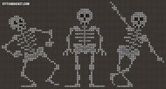 Dancing Skeletons Cross Stitch Pattern by StitchBucket on Etsy