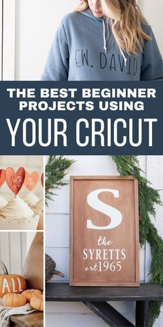 #ad Did you just get a new Cricut machine? Not sure where to starts? Check out these super easy beginner projects using your Cricut and get familiar with all the different materials and tools #cricut #cricutmade Crafts To Make And Sell, Easy Crafts For Kids, Fun Crafts, Cricut Craft Machine, Cricut Craft Room, Cool Diy Projects, Vinyl Projects, Project Ideas, Thrift Store Crafts