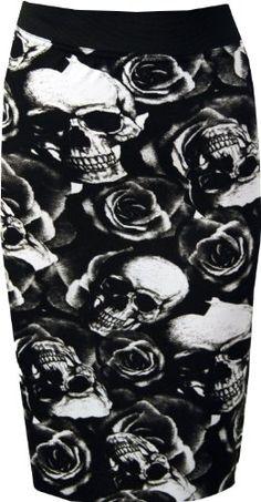 PaperMoon Women's Print Bodycon Midi Skirt - Skull Roses - US 8-10 (UK 12-14) PaperMoon,http://www.amazon.com/dp/B00GB2O09I/ref=cm_sw_r_pi_dp_-0rJsb19DQCBHKQ7