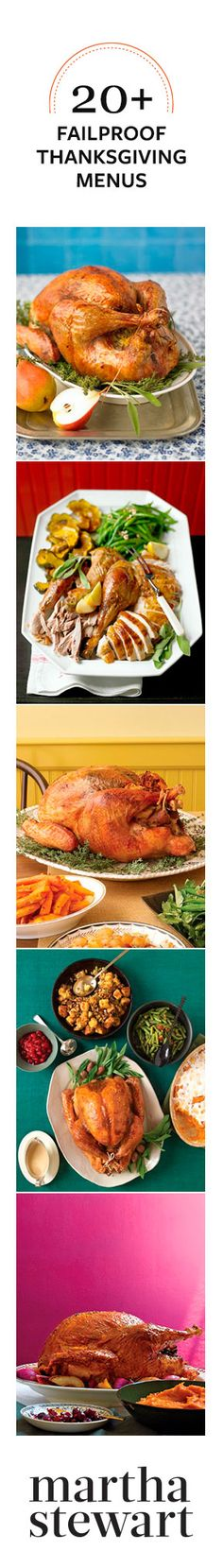20+ Failproof Thanksgiving Menus from Martha Stewart #marthastewart #thanksgiving