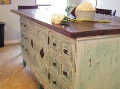 Diy Kitchen Island From Dresser transformed: vintage dresser to kitchen island   dresser, nest and
