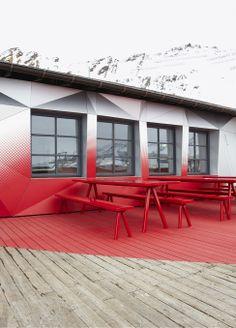 Кафе Quattro Festkogl Alm в горах Австрии
