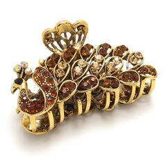 New Fashion Brown Austrian Crystal Metal Water-Drop hair claws clips pin #816