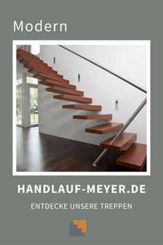 Finden Deine perfekten Handlauf mithilfe des simplen Konfigurators oder frage einfach per E-Mail Deine Lieblingstreppe an. Du kannst uns sogar einfach Screenshot schicken. Mai, Modern, Stairs, Home Decor, Writing, Simple, Homes, Decorations, Trendy Tree