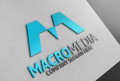 Macro Media Logo by Josuf Media on @creativemarket