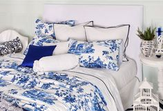 Beautiful blue bedcover