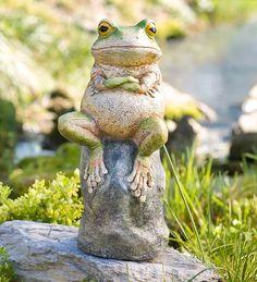 Grumpy Frog Sculpture