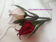 İğne Oyası Lale Çiçeği Tesbih Ucu Yapımı - Moda Yeni