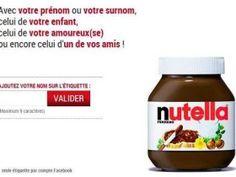 Demandez vite votre étiquette nutella personnalisée, elle est gratuite.