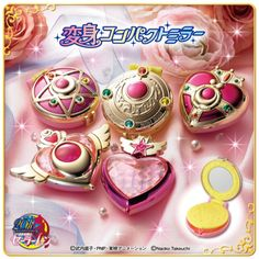 Gashapon, Sailor Moon & Sailor Chibimoon Henshin Compact Mirror (All my collection: https://www.facebook.com/prettygoodiessailormoon )
