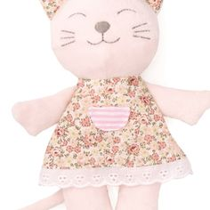 This soft and cuddly kitten is a sweet companion for any newborn baby.