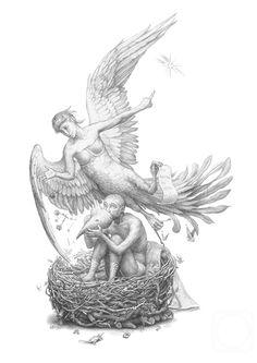 """Счастье звериное, счастье человеческое. Иллюстрация к """"Похвале Глупости"""" Эразма Роттердамского. 2012"""