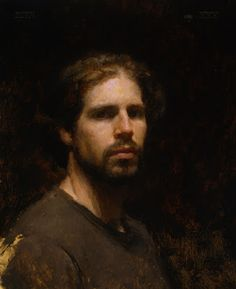 Travis Schlaht, self portrait, oil