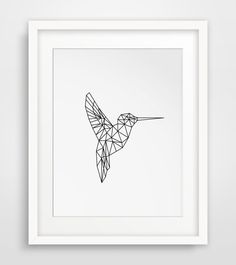 Hummingbird Print, Art Printables, Hummingbird Art, Printable Art, Hummingbird Wall Art, Spring Wall Art, Geometric Animals, Spring Prints