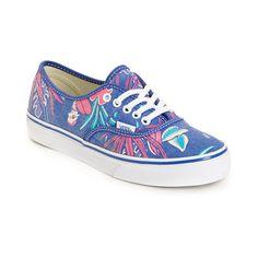 Vans Authentic Slim Van Doren Blue & Parrot Green Shoes - Zumiez - $44.99