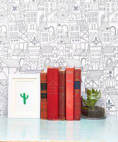 Lisa Congdon Little Village Removable Wallpaper – Chasing Paper