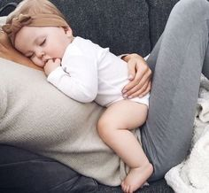 My daughter and I use to nap like this all the time. God how I miss that