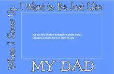 Father's Day Picture Frame Card design - adobe acrobat print file